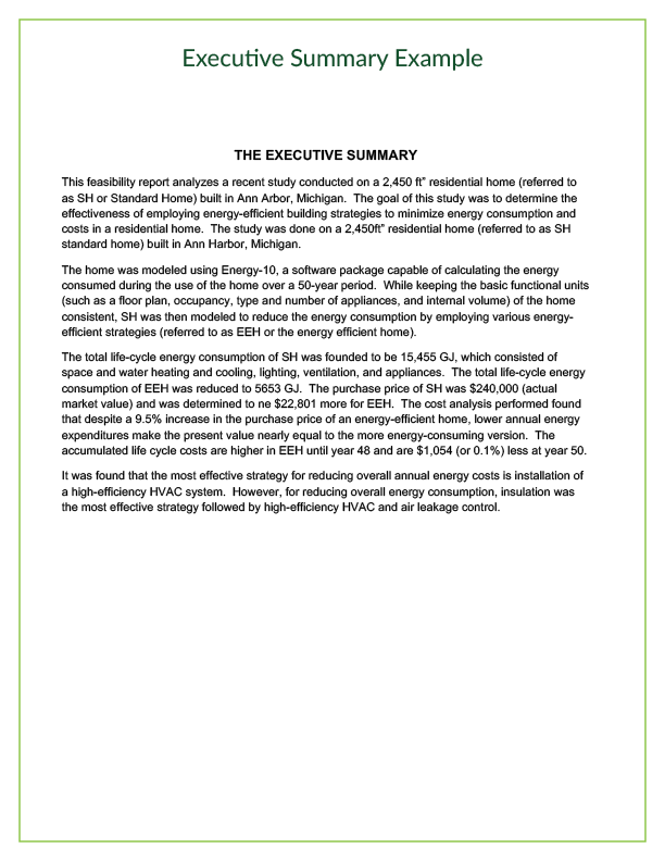 Executive summary   Office Templates